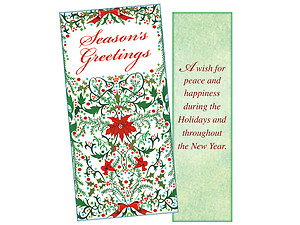 Peace And Happiness ~ Christmas Holiday Gift Card or Money Holder