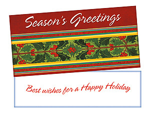 Best Wishes ~ Christmas Holiday Gift Card or Money Holder