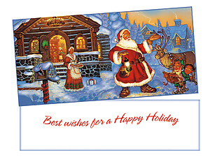 Happy Holiday ~ Christmas Holiday Gift Card or Money Holder