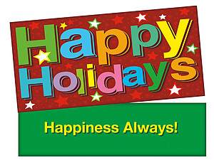 Happiness Holidays Stars ~ Christmas Holiday Gift Card or Money Holder
