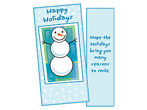 Many Reasons To Smile ~ Christmas Holiday Gift Card or Money Holder