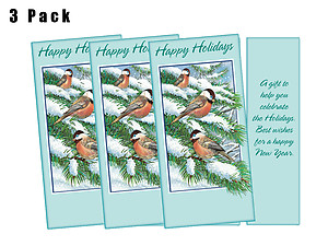 A Gift To Help You Celebrate ~ 3 Pack ~ Christmas Holiday Gift Card or Money Holder