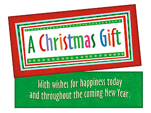 Wishes For Happiness Today ~ Christmas Holiday Gift Card or Money Holder