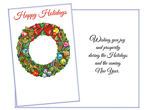 Wishing You Joy ~ 6 Pack Holiday Greeting Cards