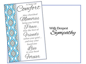 A Note of Comfort ~ Sympathy Card