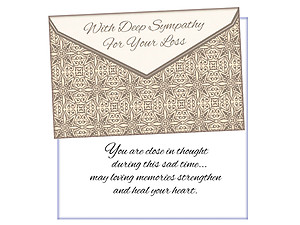 Close In Thought ~ Sympathy Card
