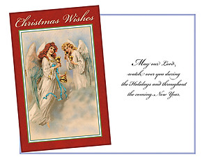 Christmas Wishes Angels ~ 6 Pack Holiday Greeting Cards
