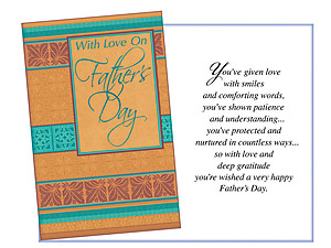 Smiles and Comforting Words ~ Father's Day Card
