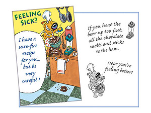 A Sure-Fire Recipe ~ Get Well Card