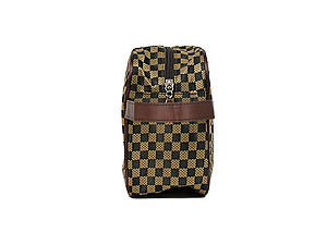 Men's Brown Accessory Zip Top Toiletry Travel Bag