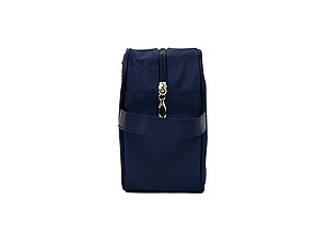 Men's Navy Accessory Zip Top Toiletry Travel Bag