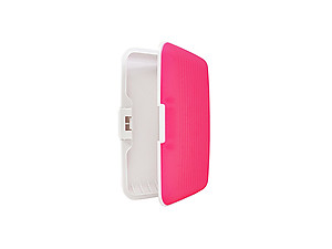Hot Pink Silicone Rubber Wallet Credit Card Holder With RFID Protection