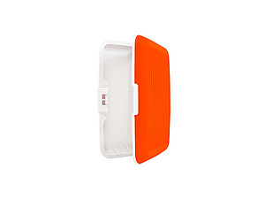 Orange Silicone Rubber Wallet Credit Card Holder With RFID Protection