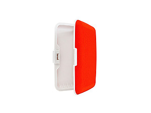 Red Silicone Rubber Wallet Credit Card Holder With RFID Protection
