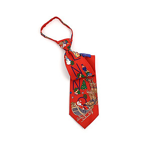 Men's ~ Boy's Red Noel Poly Zipper Christmas Tie