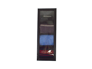 Men's Fancy Multi Colored Socks Gift Box ~ 4 pair ~ Style 0619