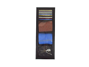 Men's Fancy Multi Colored Socks Gift Box ~ 4 pair ~ Style 0622