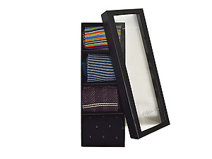 Men's Fancy Multi Colored Socks Gift Box ~ 4 pair ~ Style 0623
