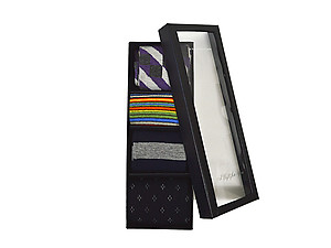 Men's Fancy Multi Colored Socks Gift Box ~ 4 pair ~ Style 0625