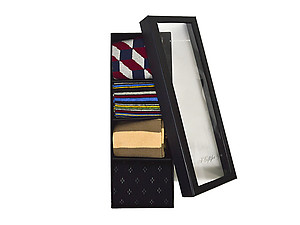 Men's Fancy Multi Colored Socks Gift Box ~ 4 pair ~ Style 0626