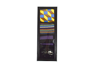 Men's Fancy Multi Colored Socks Gift Box ~ 4 pair ~ Style 0627