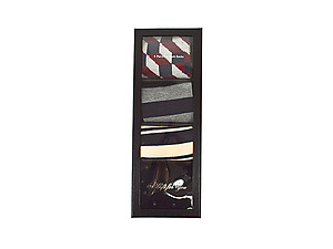 Men's Fancy Multi Colored Socks Gift Box ~ 4 pair ~ Style 0630