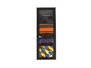 Men's Fancy Multi Colored Socks Gift Box ~ 4 pair ~ Style 0631