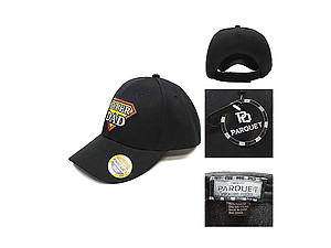 Super Dad Black Embroidered Baseball Hat Cap w/ Adjustable Velcro Closure