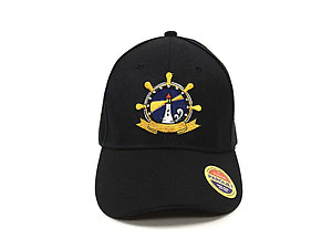 Lighthouse Black Embroidered Baseball Hat Cap w/ Adjustable Velcro Closure