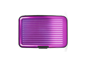 Light Purple Aluminum Wallet Credit Card Holder With RFID Protection