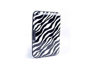 Zebra Print Aluminum Wallet Credit Card Holder With RFID Protection
