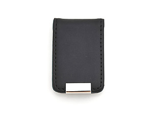 Two-Tone Leather and Zinc-Alloy Money Clip