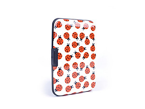 Ladybugs Aluminum Wallet Credit Card Holder With RFID Protection