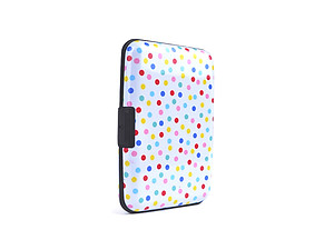 Polka Dot Aluminum Wallet Credit Card Holder With RFID Protection