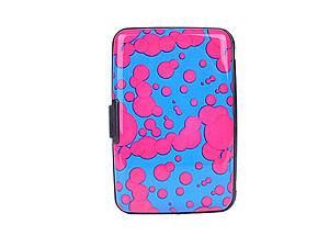 Pink Spot Aluminum Wallet Credit Card Holder With RFID Protection