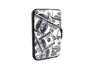 Money Aluminum Wallet Credit Card Holder With RFID Protection