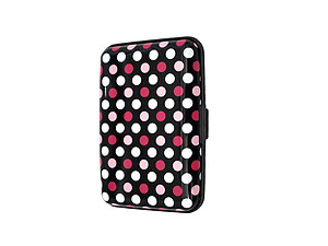 Pink Dots Aluminum Wallet Credit Card Holder With RFID Protection
