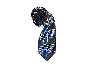 Men's Music Notes Polyester Printed Novelty Tie