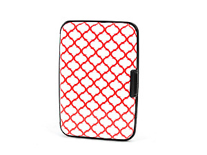 Red Pattern Aluminum Wallet Credit Card Holder With RFID Protection