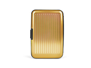 Gold Aluminum Wallet Credit Card Holder With RFID Protection