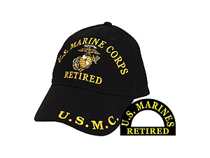 US Marines Retired Hat Cap for Men and Women