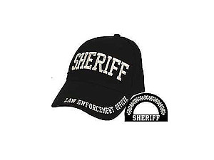 Black Sheriff Hat Cap for Men and Women
