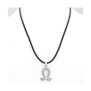 Leo Crystal Pave Zodiac Pendant Necklace