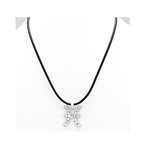 Pisces Crystal Pave Zodiac Pendant Necklace