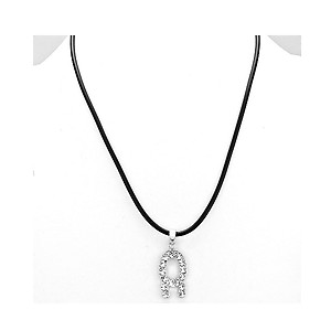 Taurus Crystal Pave Zodiac Pendant Necklace