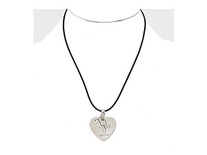 Aquarius 2 Layer Crystal Zodiac Heart Pendant Necklace
