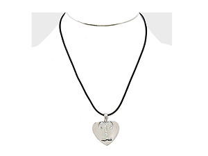 Aries 2 Layer Crystal Zodiac Heart Pendant Necklace