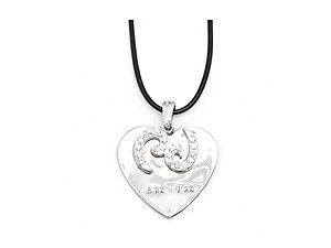 Cancer 2 Layer Crystal Zodiac Heart Pendant Necklace