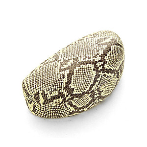 Brown Snakeskin Printed Clamshell Eyeglass / Sunglass Case