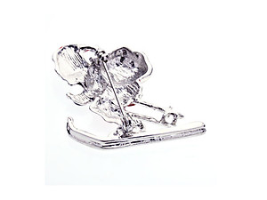 Santa On Sleigh Enamel Christmas Brooch